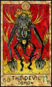 タロット悪魔のカードイラスト